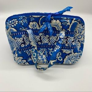 Vera Bradley Blue Lagoon Makeup Toiletries Bag